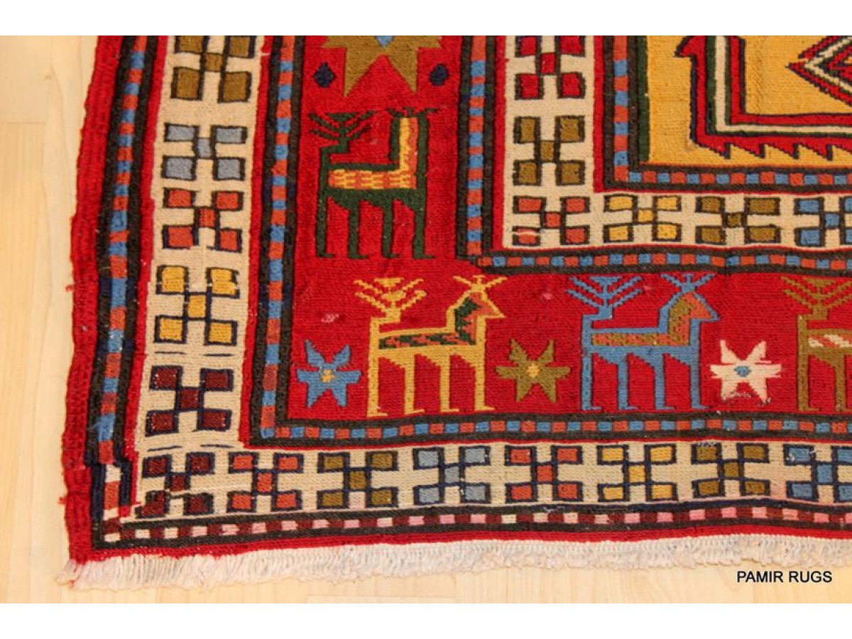 Caucasian sumak kilim design made in persia handmade hand for Kilim designs