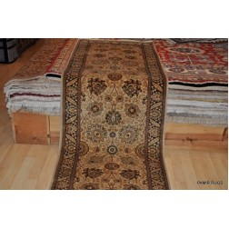 12 Ft. Long Fine Quality Persian Tabriz Hall Runner