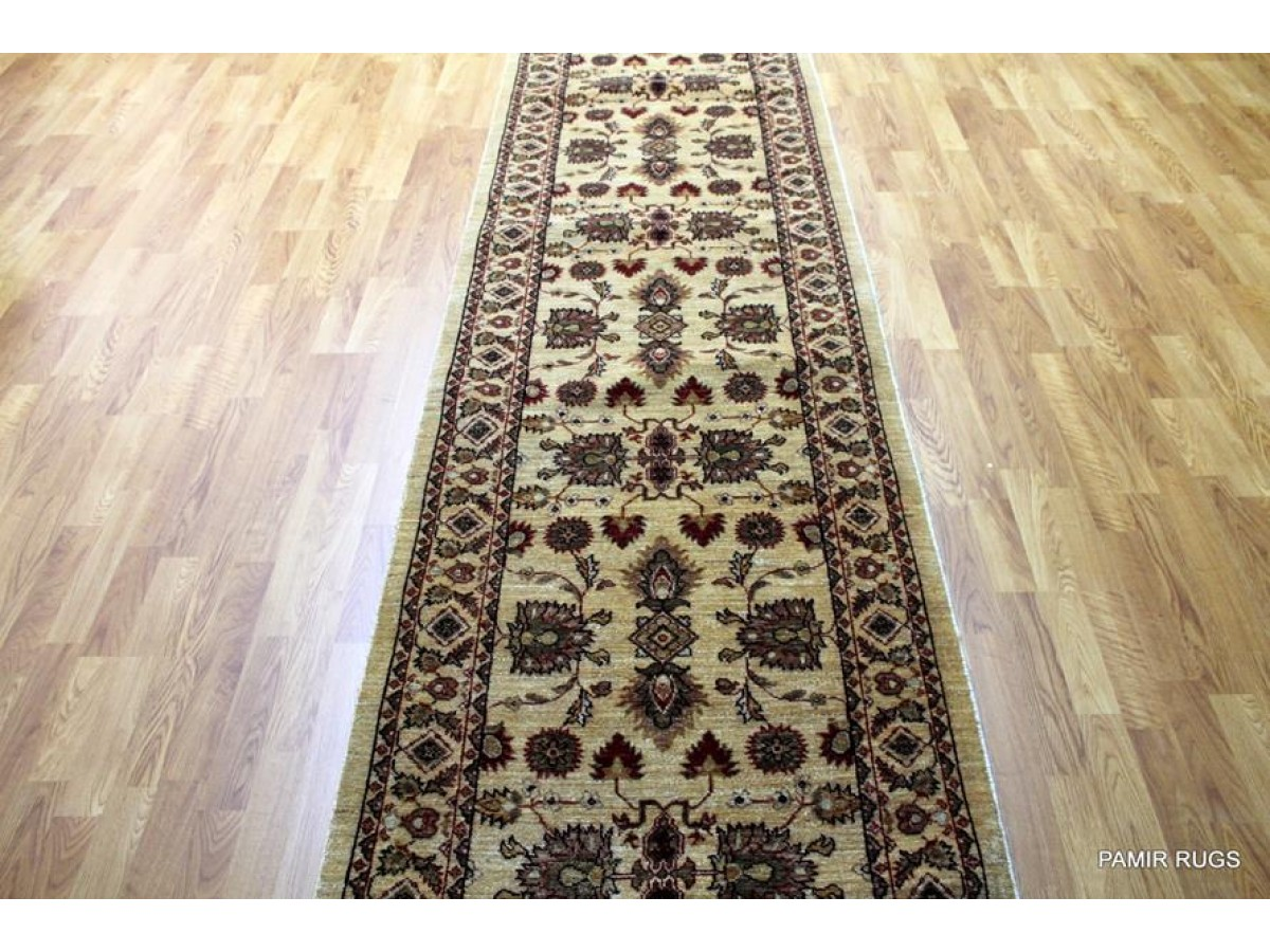 Persian Hall Runner Allover Design Beige Ivory