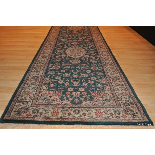 10 Ft Long Teal Green Hnamdade Fine Quality Hall Runner