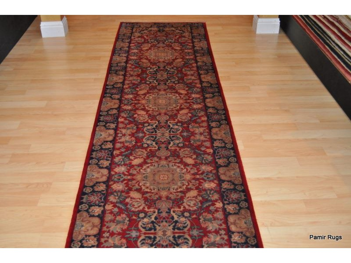 12 Long High Quality Hall Runner Red Navy