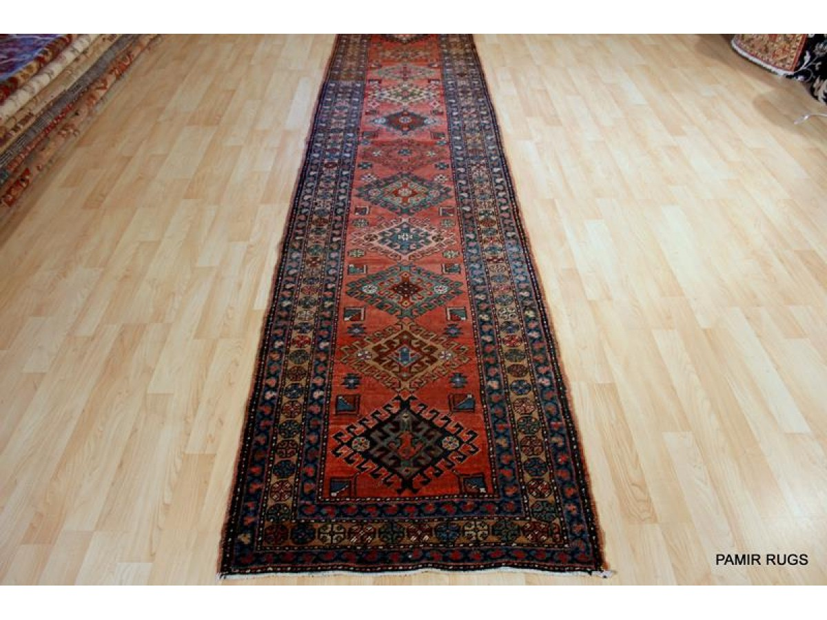 13 Ft Long Persian Heriz Hall Runner Caucasian Kazak