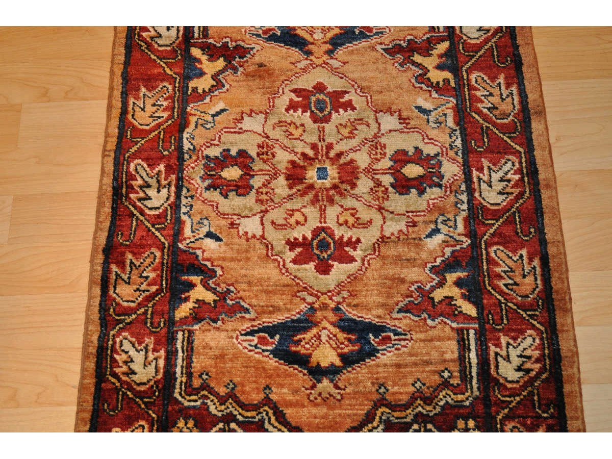 Fine Quality Handmade Persian Vegetable Dye Hall Runner