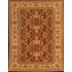 Elegant 8' X 10' Floral Vegetable Dye Rug Gold & red