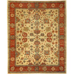 Persian Mahal, Elegant 8' X 10'Fine Vegetable Dye Chobi Rug