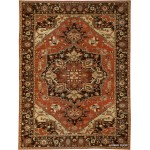 9' X 12' Handmade Persian Heriz Design Knotted Colorful  Rug