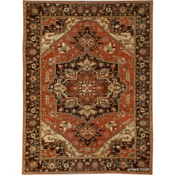 9u0027 x 12u0027 handmade persian heriz design knotted colorful rug