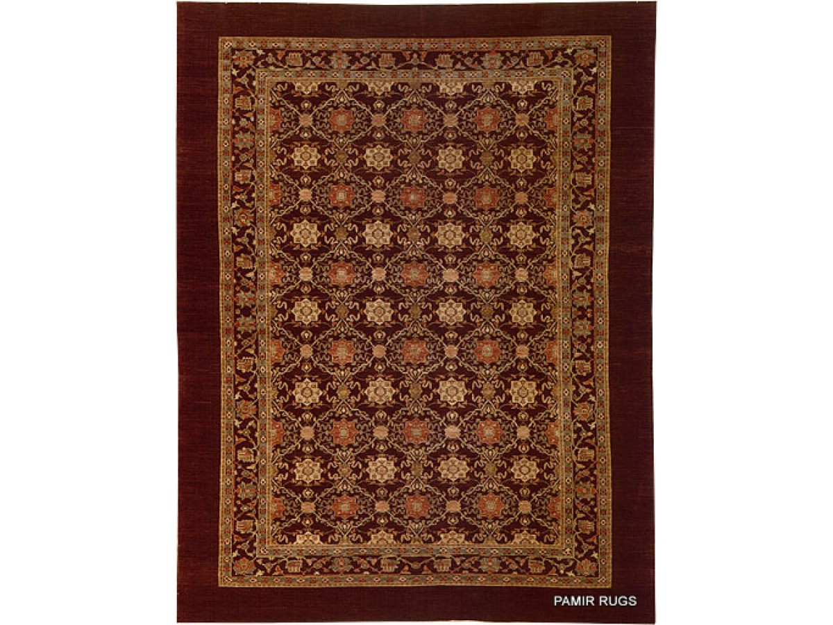 Elegant Persian Oriental Rug 9 X 12 With Dark Chocolate