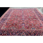 Antique Persian Mahal Sultanabad from early 1900 red background all over design