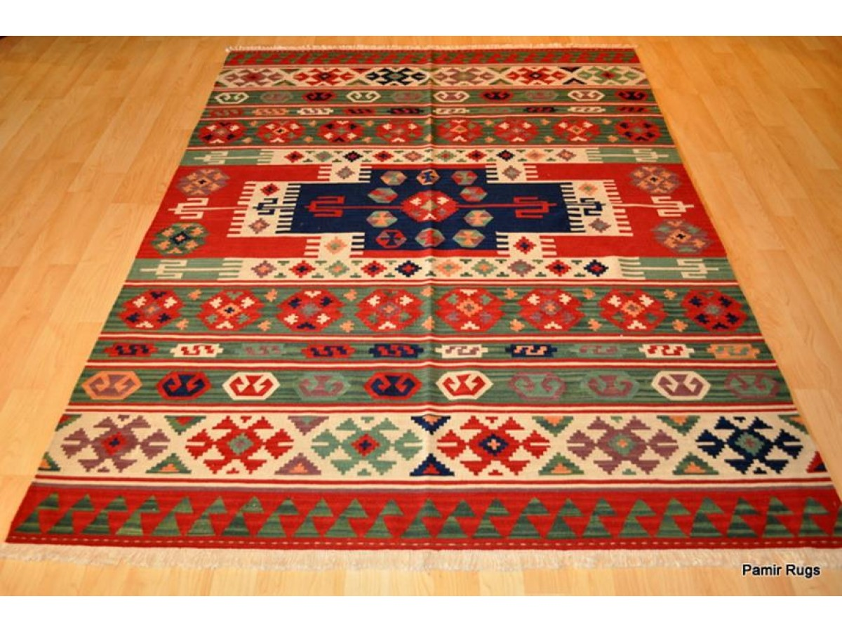 American Indian Design Rug Handmade Turkish Kilim