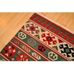 American Indian Design Rug, Handmade Turkish Kilim