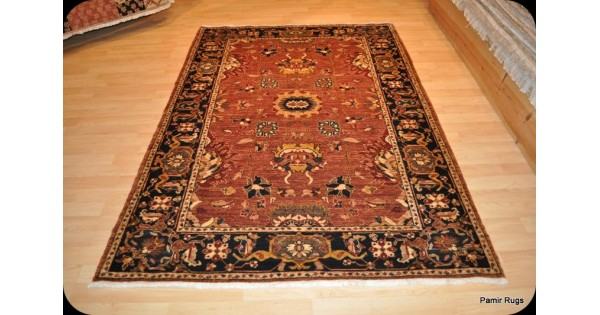 Elegant Persian Rug 5 X 7 Rust Color Background Royal