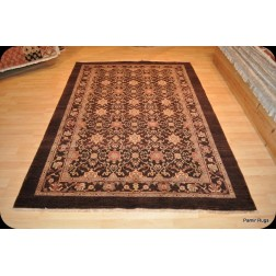 5' X 7' Elegant Persian Brown Vegetable Dyed Rug