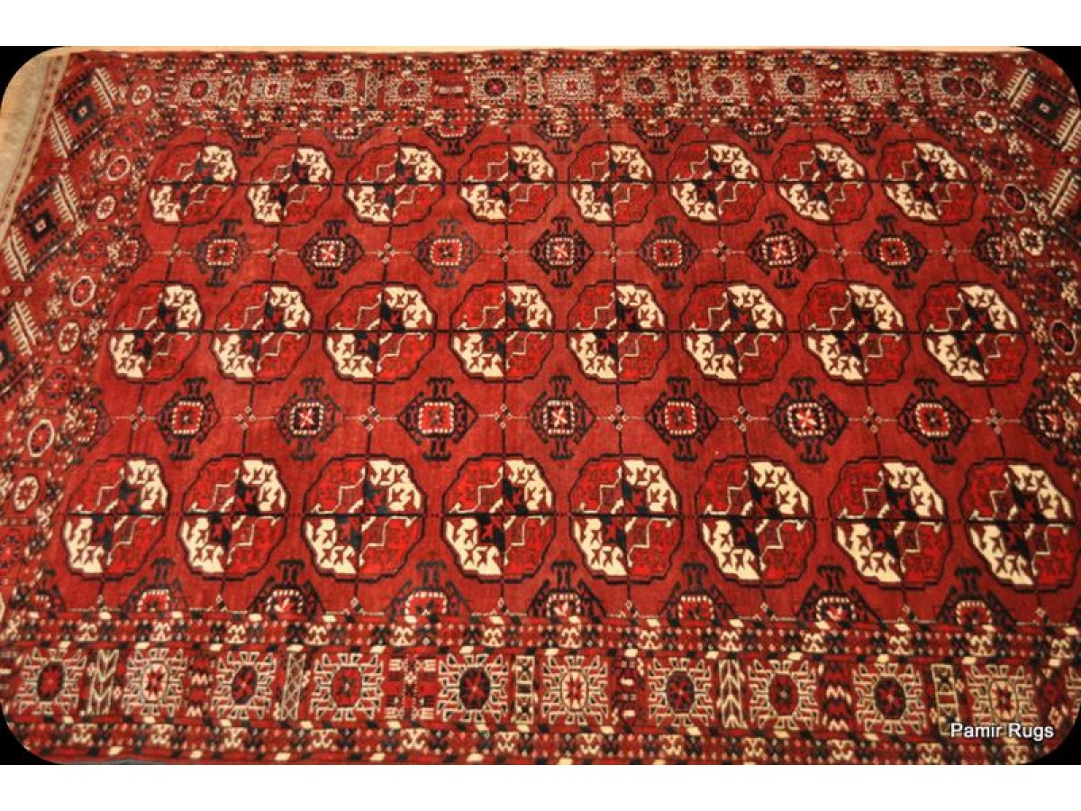 Antique Turkmen Tekke Rug Authentic Matches Ersari Yamod
