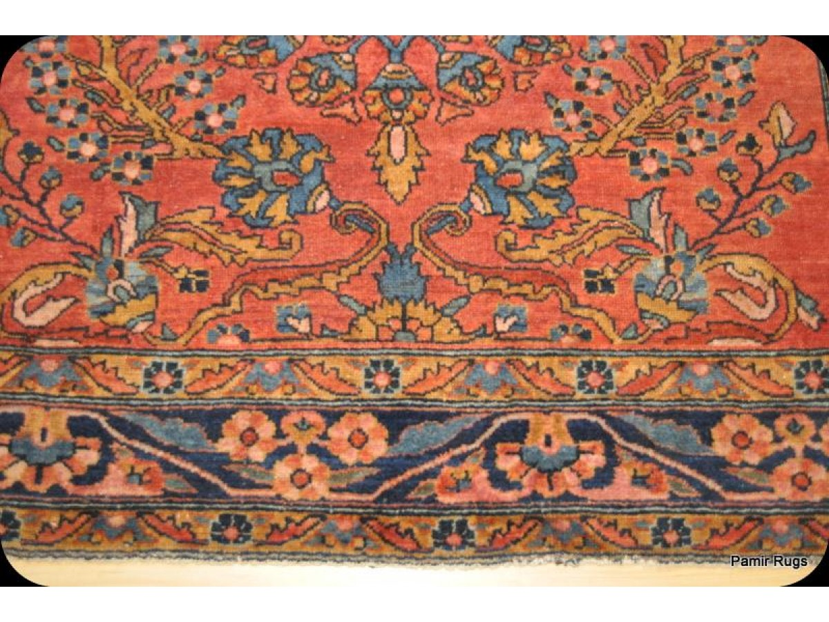 5 X 6 Antique Persian Lilihan Sarouk Design Authentic