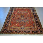 Circa 1920's Vintage Sarouk, 5' X 7' Authentic Persian Rug.