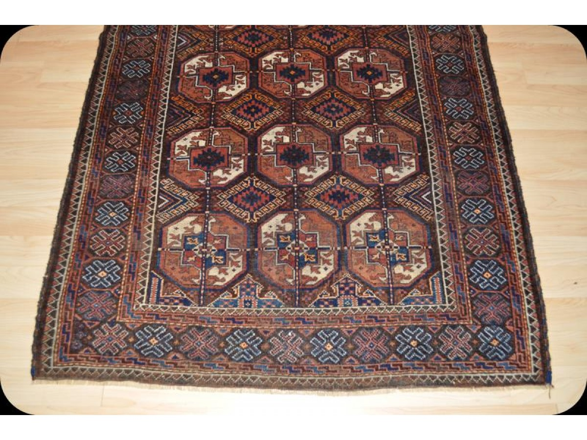 3 X 6 Antique Persian Beluch Rug Circa 1900 Turkmen