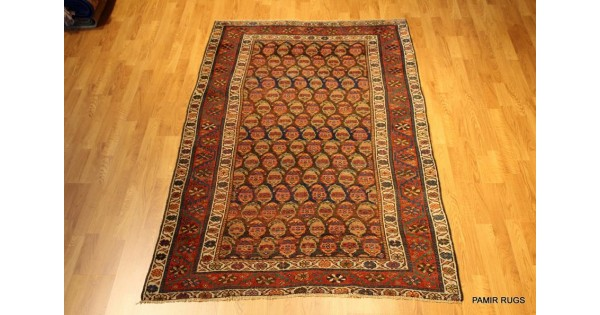 Kurdish Rug Northern Iran Tribe Butteh Design Vintage
