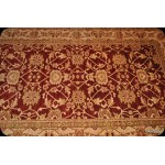 Elegant 6' X 9' Fine Quality Cherry Red & Gold Color Rug.
