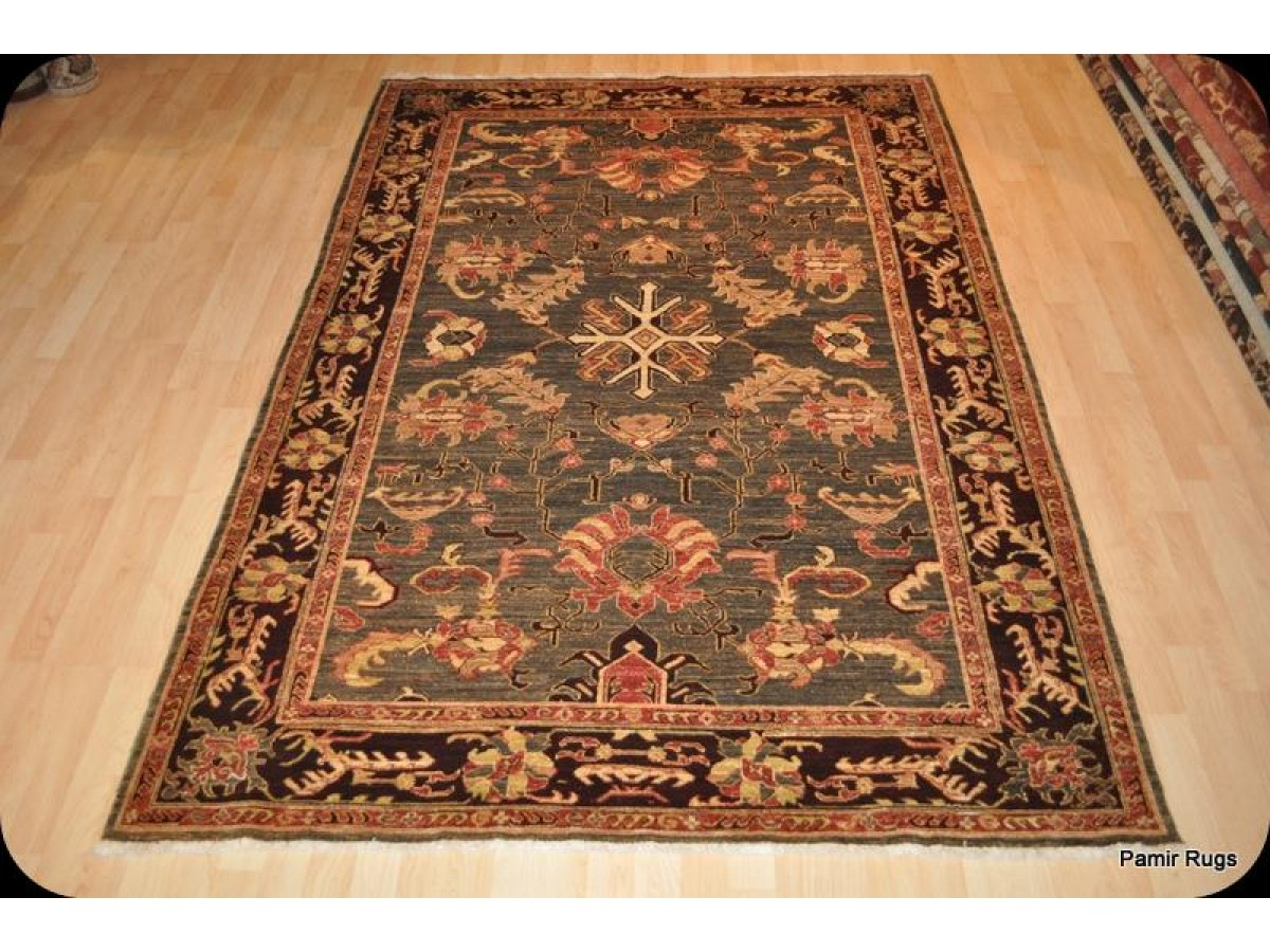 Elegant High End Persian Rug 6 X 9 With Dark Green Olive