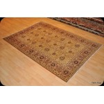 Muted Soft Color Gold Background 6' X 9' Vegetable Dyed Rug