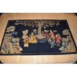 Chinese pictorial 5x8 Antique 8 gods antique rug, Eight Immortals