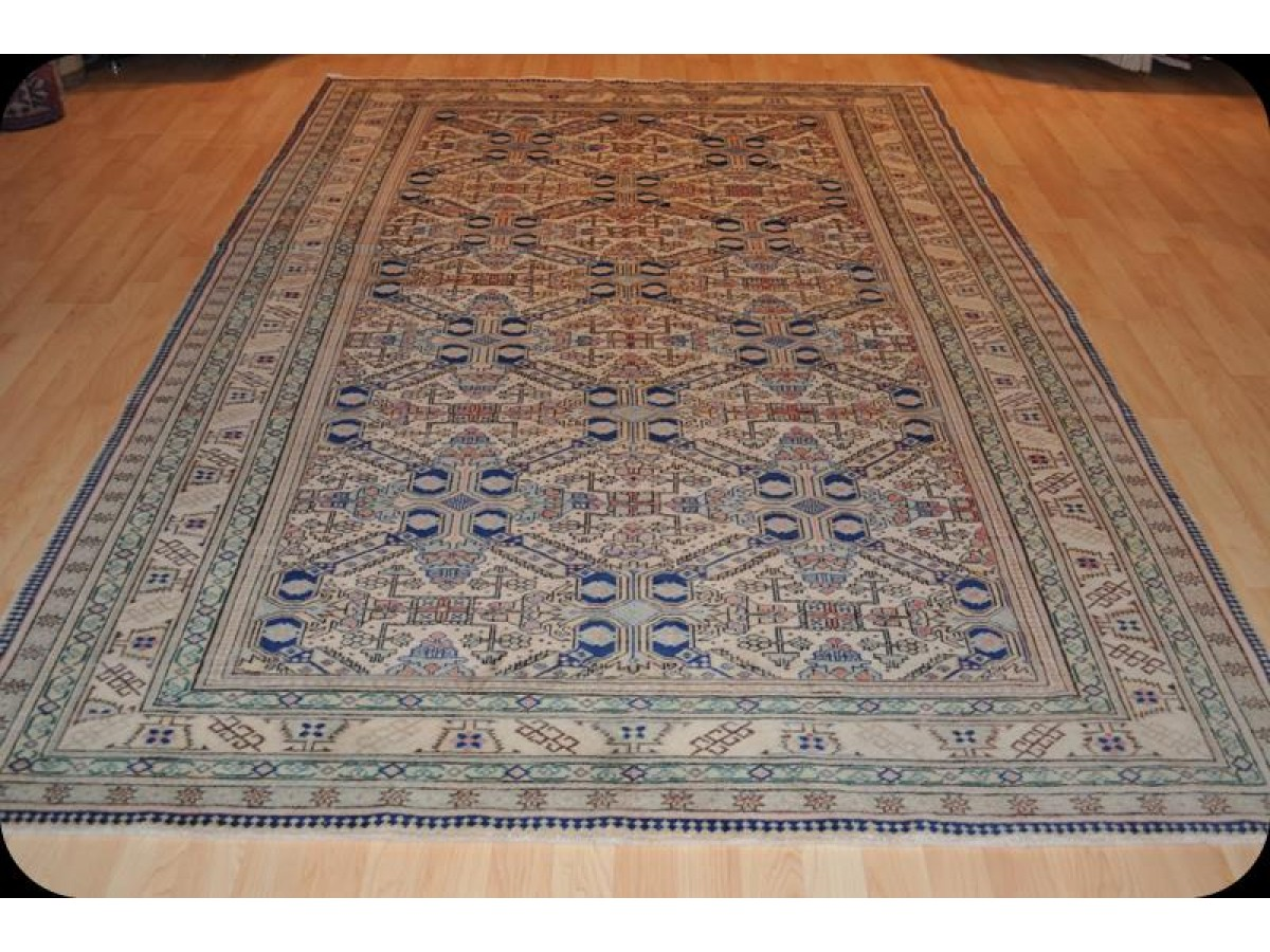 Semi Antique Handmade Persian Tribal Rug Finely Woven 6 X