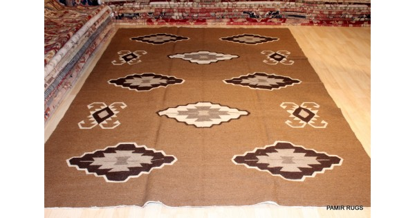 7x10 Ft Handwoven Egyptian Kilim Southwestern Design
