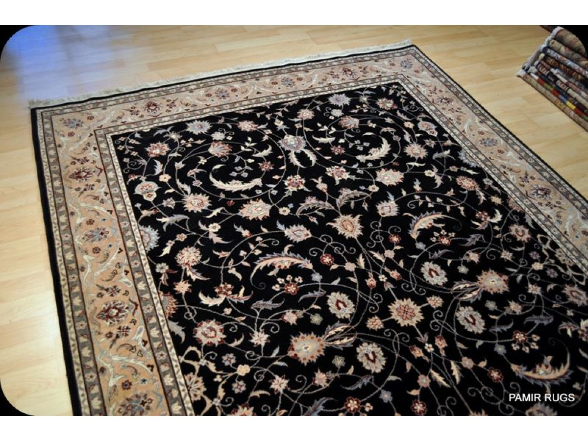 6 X9 Persian Rug Black Background Fine Quality Woven