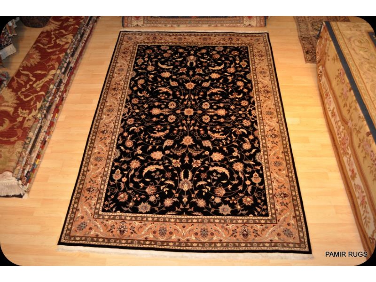 sale persian rug black background fine quality woven rug
