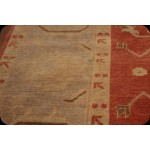 6'x9' Terra Cotta Color Fine Quality Handmade Vegetable Dyed Rug