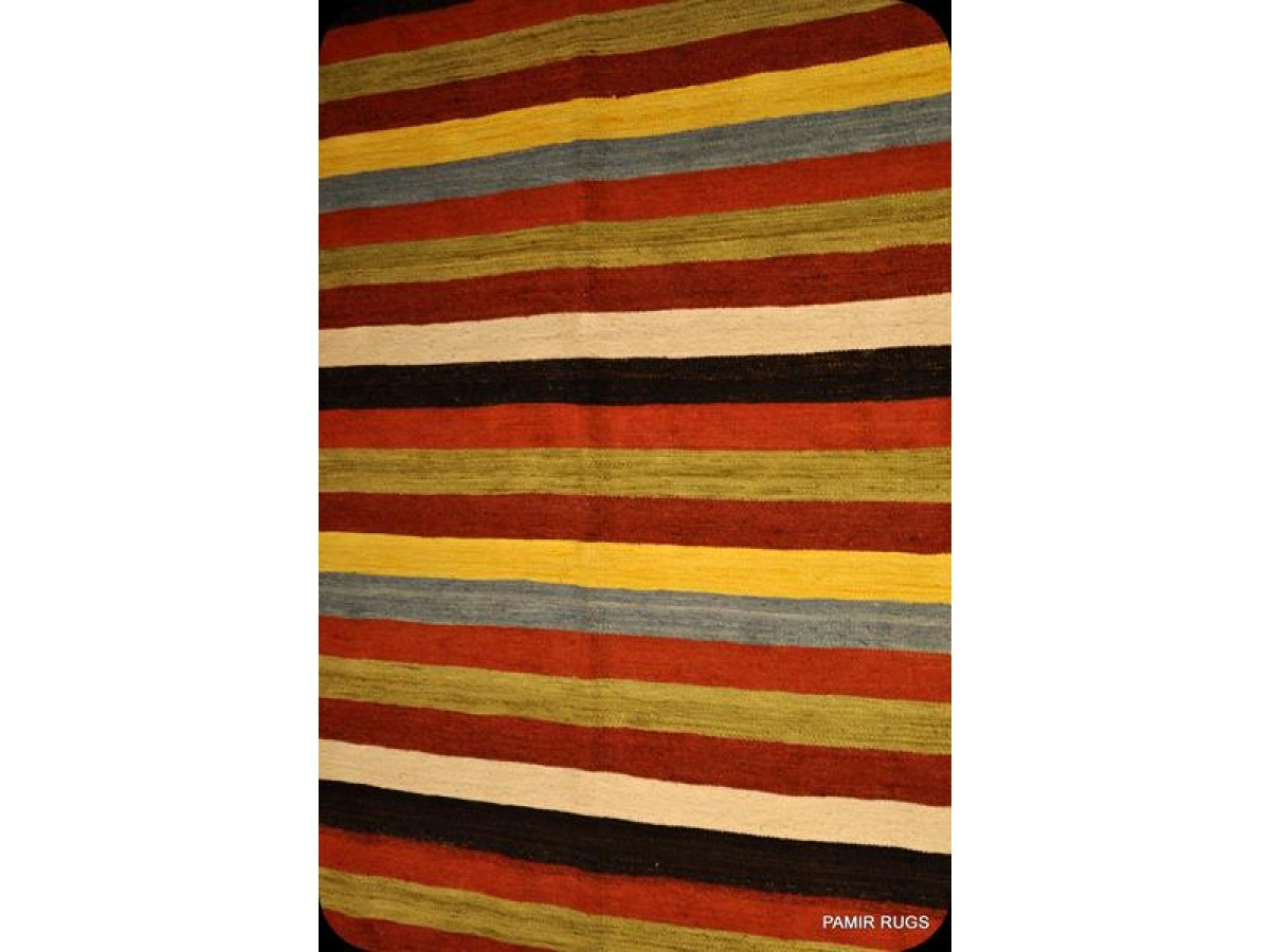 Wool Hand Woven Kilim Strip Design 6 X 9