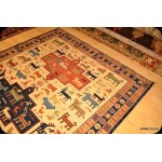 Sumak Kilim Rug Southwestern style with Animal Motives Rug