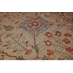 Elegant Persian Mahal Rug with Light Blue Beige and Brown Colors