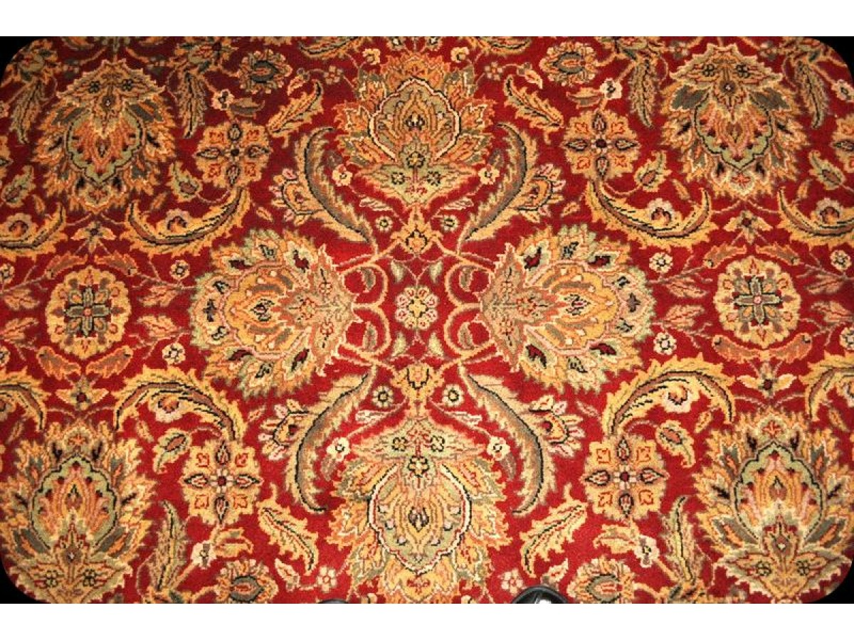 Fine Quality Handmade Persian Floral Design With Red