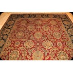 8' X 10' Handmade Persian Floral Rug Red background