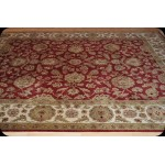 8' X 10' Wool Persian Victorian Design Red background Rug