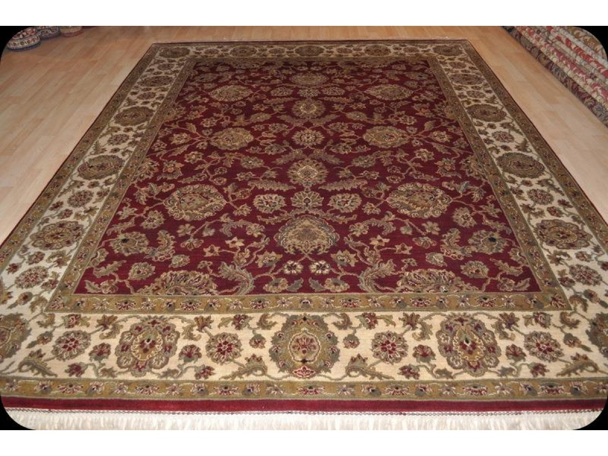 elegant persian victorian design fine quality handmade wool rug 8 39 x 10 39 red background. Black Bedroom Furniture Sets. Home Design Ideas