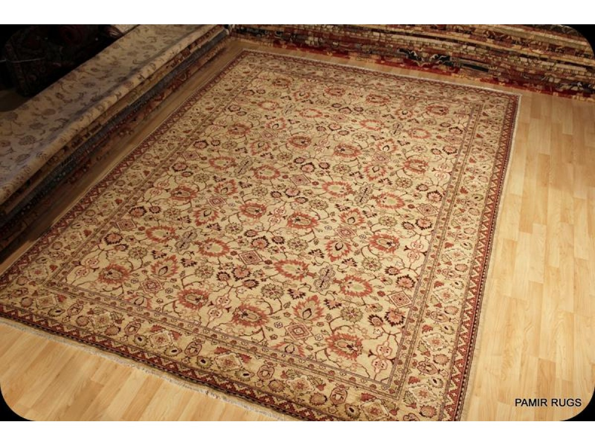 Elegant Persian Rug Muted Soft Colors Handmade Knotted