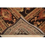 Elegant Chocolate Brown Vegetable Dyed Chobi Rug