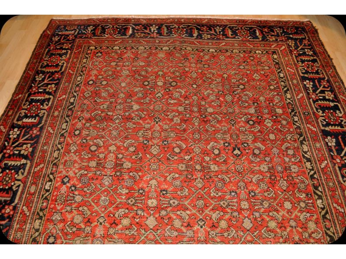 Wide Hall Runner Antique Persian Malayer Rug 7 X 14