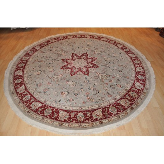 New Brand Devlin Persian Rug Handmade 100 Wool Area Rugs: 7' X 7' Round Persian Rug Floral Made Out Of 100% Natural