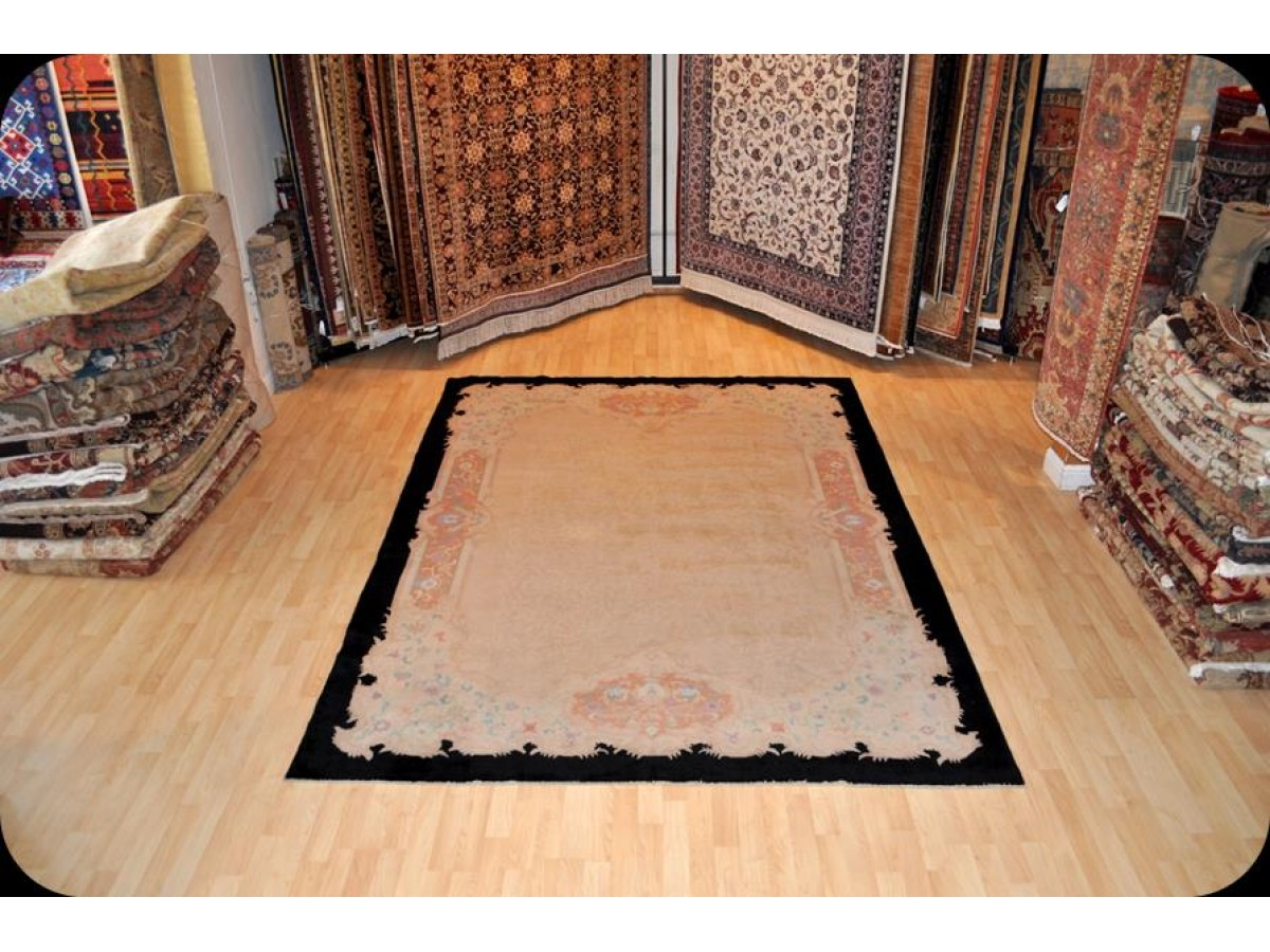 Ideal Ancient Elegant Chinese At Deco Rug with Beige Background and  XG37