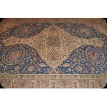 Handmade Blue Background 9' x 12' Persian Tabriz