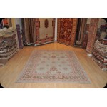 Vintage AE-501 Antique Washed Persian Mahal Turquoise Rug