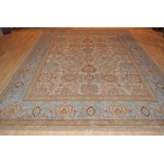 8' X 11' Authentic Persian Mahal Sultanabad Rug Light Blue & Beige