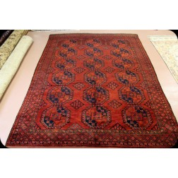 8' X 10' Antique Turkmen Ersari Rug ( Turkomen)