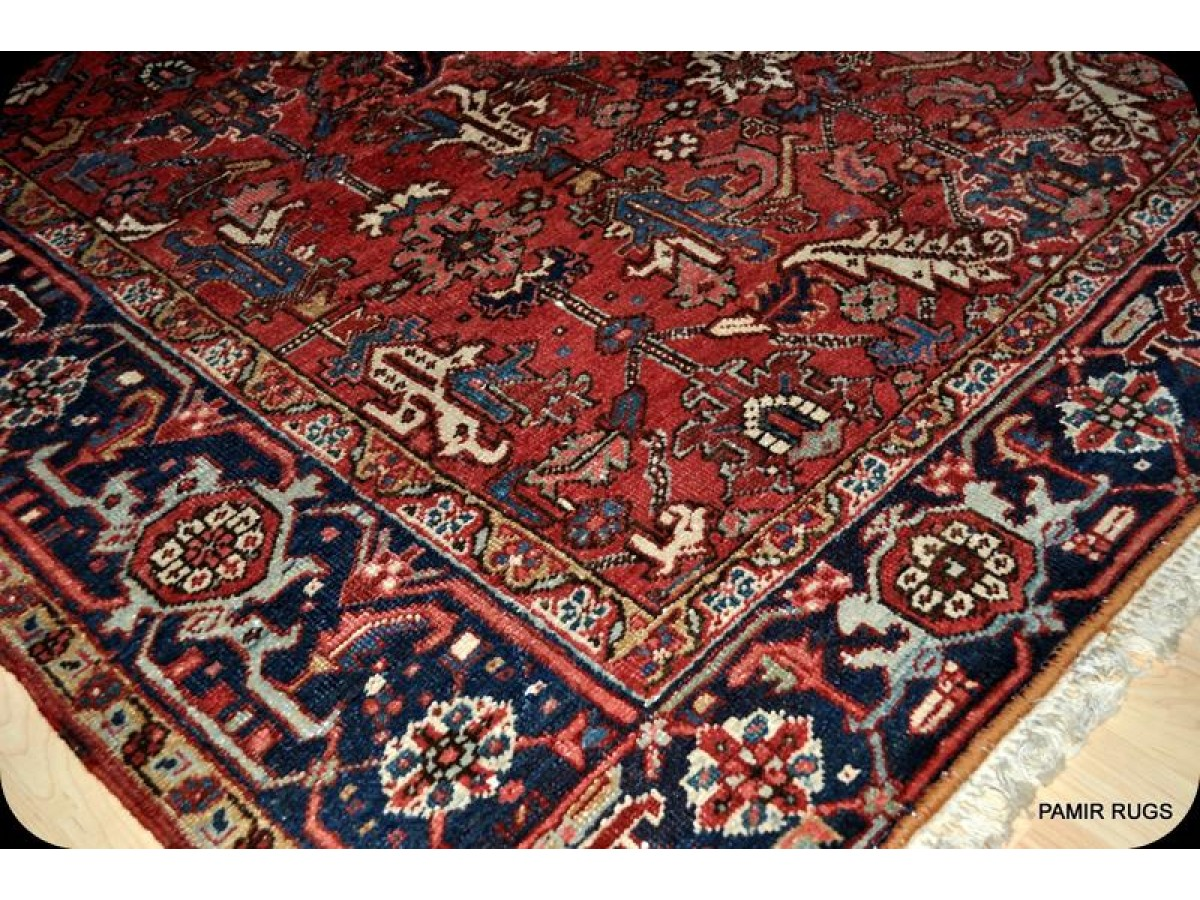 Antique Persian Heriz Rug Circa 1930 S Genuine Handmade