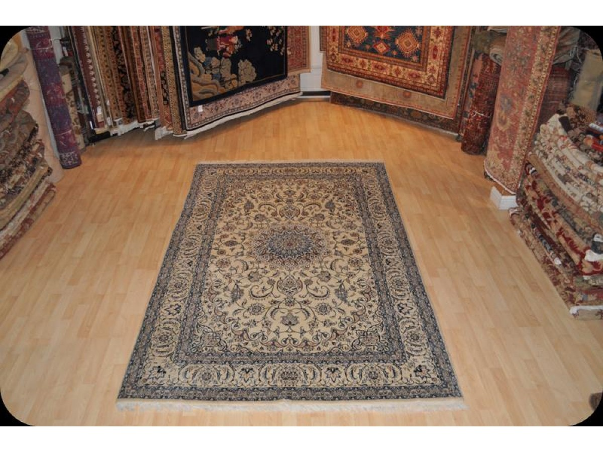 Large Fine Quality Handmade Nain Rug Made Out Of 100 Natural Silk