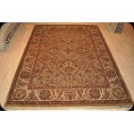 Elegant Light Brown handmade Persian 9' X 12' Carpet